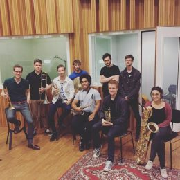 Studiosession with the New Arrangments Nonett by Eirikur Steffanson